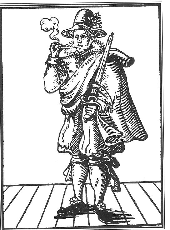 Image of Mary Frith from title page of The Roaring Girl