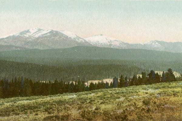 Mt. Washburn from across Canyon, Yellowstone National Park, Wyo.