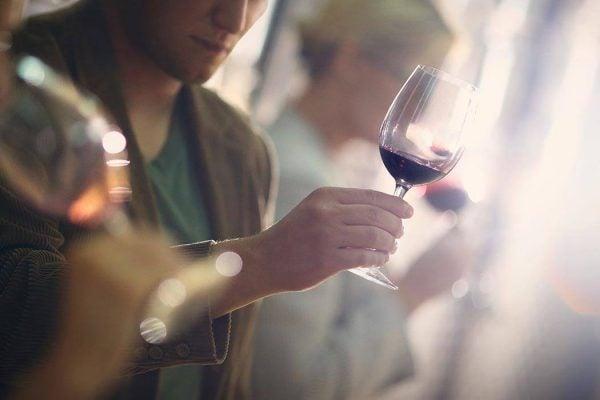 Wine tasting pino noir
