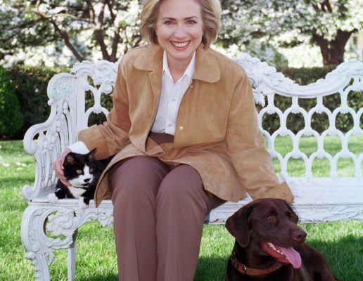 Hilary Clinton with Buddy