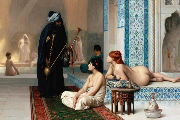 Harem Pool Jean-Léon Gérôme [Public domain], via Wikimedia Commons
