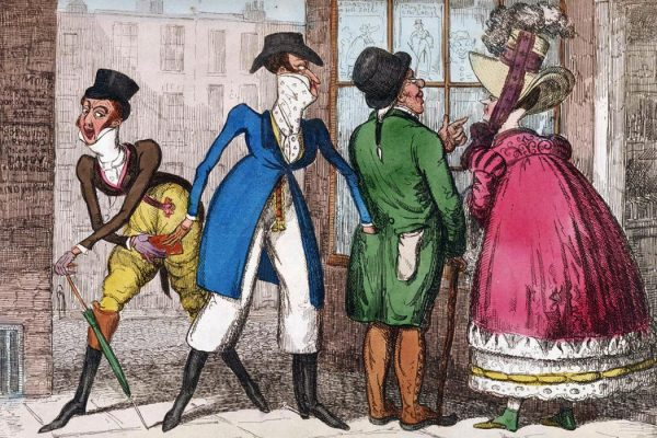 Dandy pickpockets, diving published in The caricature magazine, or Hudibrastic mirror, by G.M. Woodward, vol. 5, Folio 75
