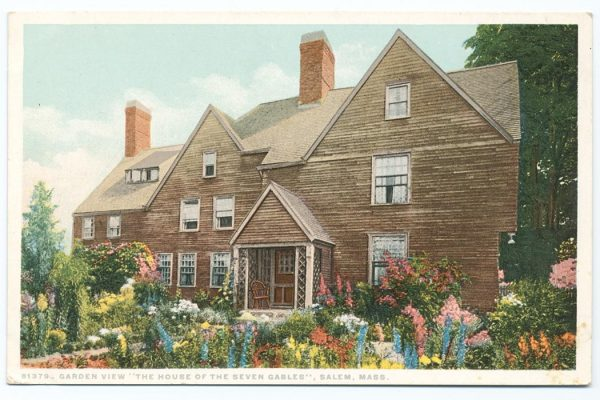 "Garden view ""The House of the Seven Gables"", Salem, Mass. The Miriam and Ira D. Wallach Division of Art, Prints and Photographs: Photography Collection, The New York Public Library. ""Garden view ""The House of the Seven Gables"", Salem, Mass."" New York Public Library Digital Collections. Accessed March 10, 2016. http://digitalcollections.nypl.org/items/510d47d9-9dc0-a3d9-e040-e00a18064a99"