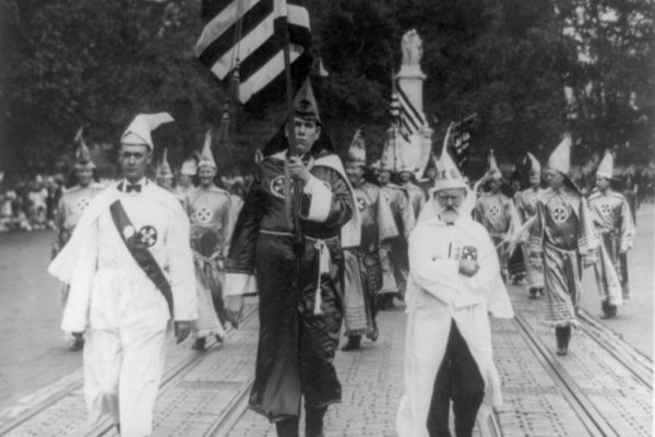 Leading the Klu Klux Klan parade which was held in Washington, D.C.