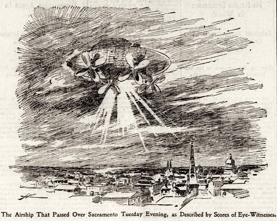 Mystery airship, San Francisco Call, November 19, 1896