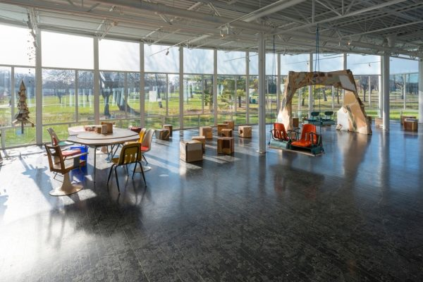 Installation view at Elmhurst Biennial: Chicago Statements, 2016; image by James Prinz.