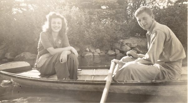 Libby Adler with Julian Denver CO Jul 28, 1943 Libby and Julian Adler enjoying romantic times. Collection of The Jewish Historical Society of Greater Hartford