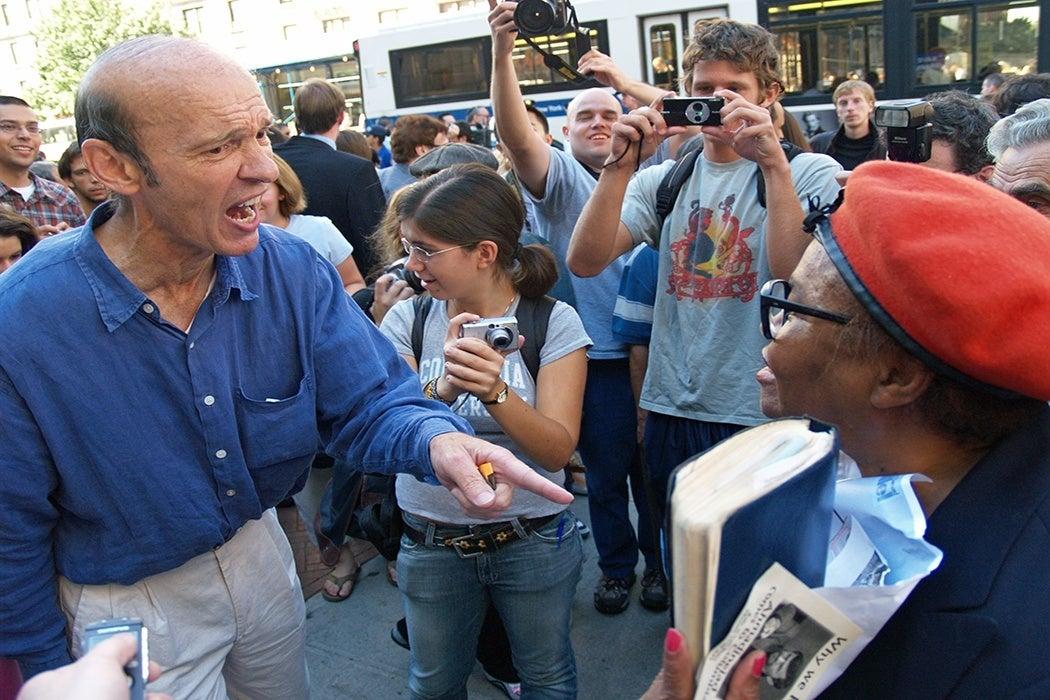 Anger during protest David Shankbone Interrupting
