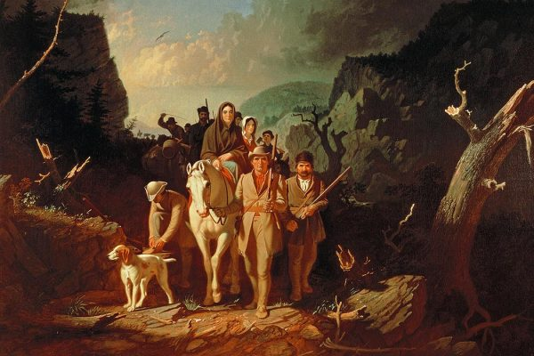 Daniel Boone escorting settlers through the Cumberland Gap, by George Caleb Bingham (1811–1879)