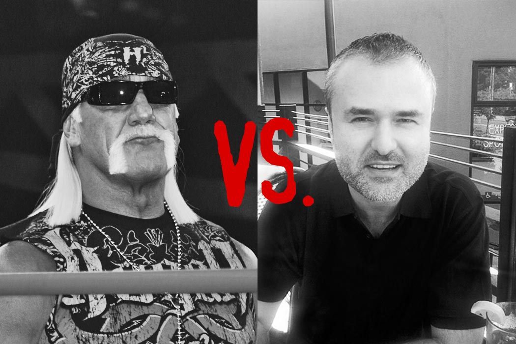 Hulk Hogan (left) and Nick Denton (right)