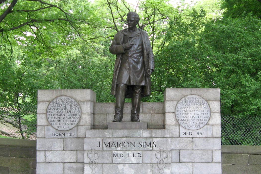 Statue of James Marion Sims in New York's Central Park