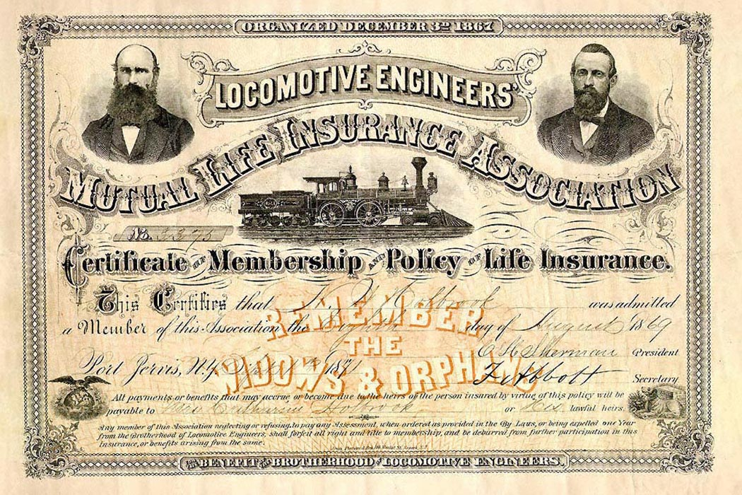 1871 Life insurance policy