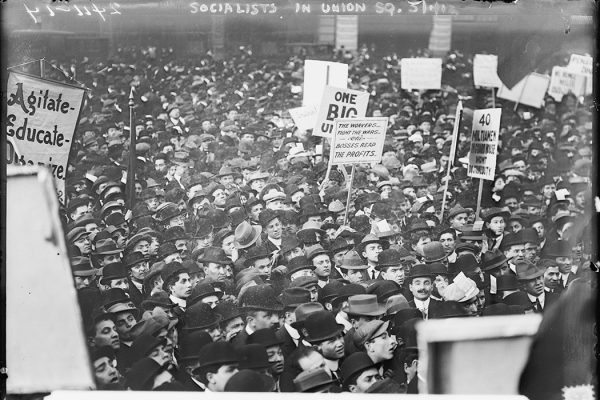 Socialists in Union Square, N.Y.C. May 1, 1912