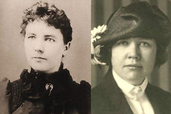 Left: Laura Ingalls Wilder, circa 1885 Right: Rose Wilder Lane, journalist and writer