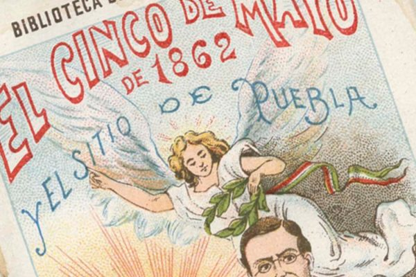 "1901 poster for Cinco de Mayo: ""May 5, 1862 and the siege of Puebla"""