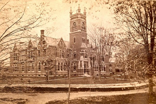 College Hall opened in 1875 as the main building of Smith College.