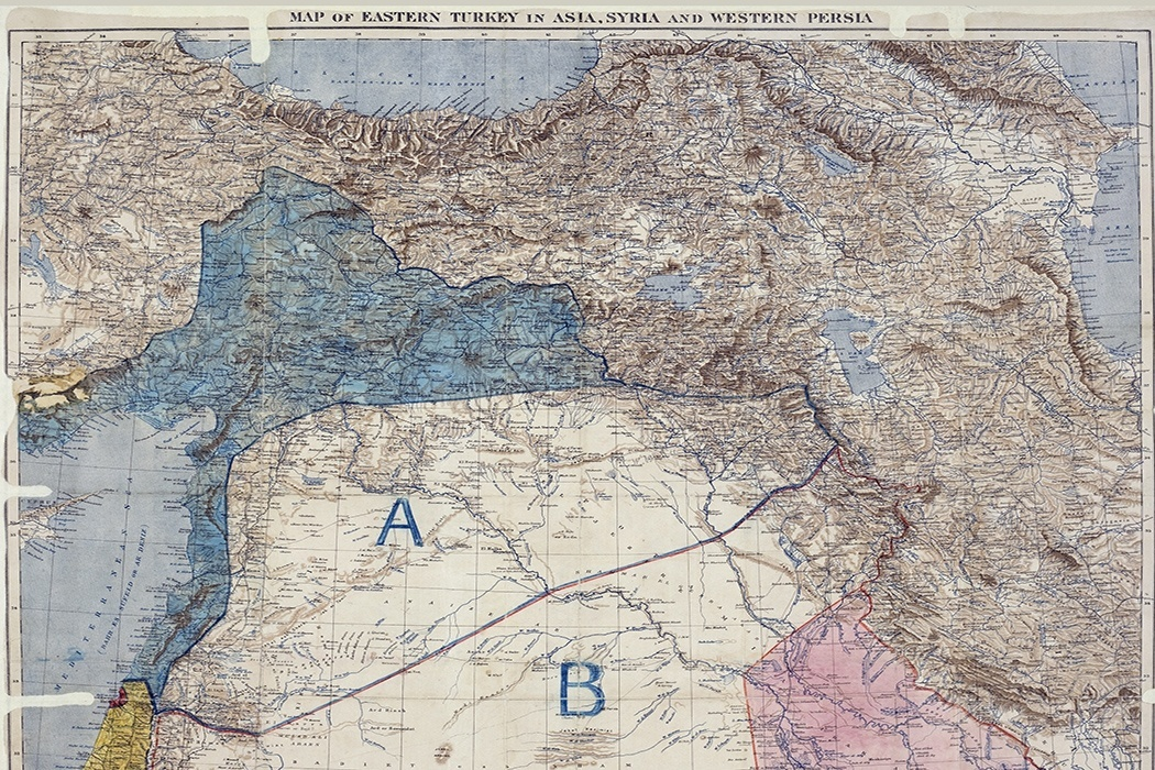 Middle East Map Before Wwii.The Map That Created The Modern Middle East Jstor Daily