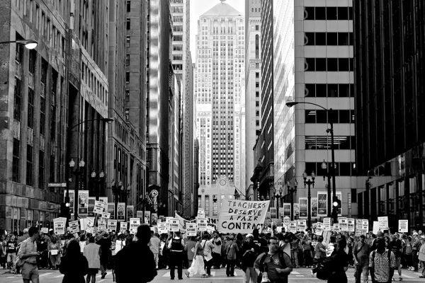 Chicago teachers striking