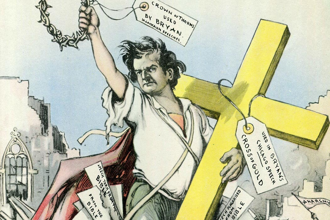 "A Republican satire on Bryan's ""Cross of Gold"" speech"