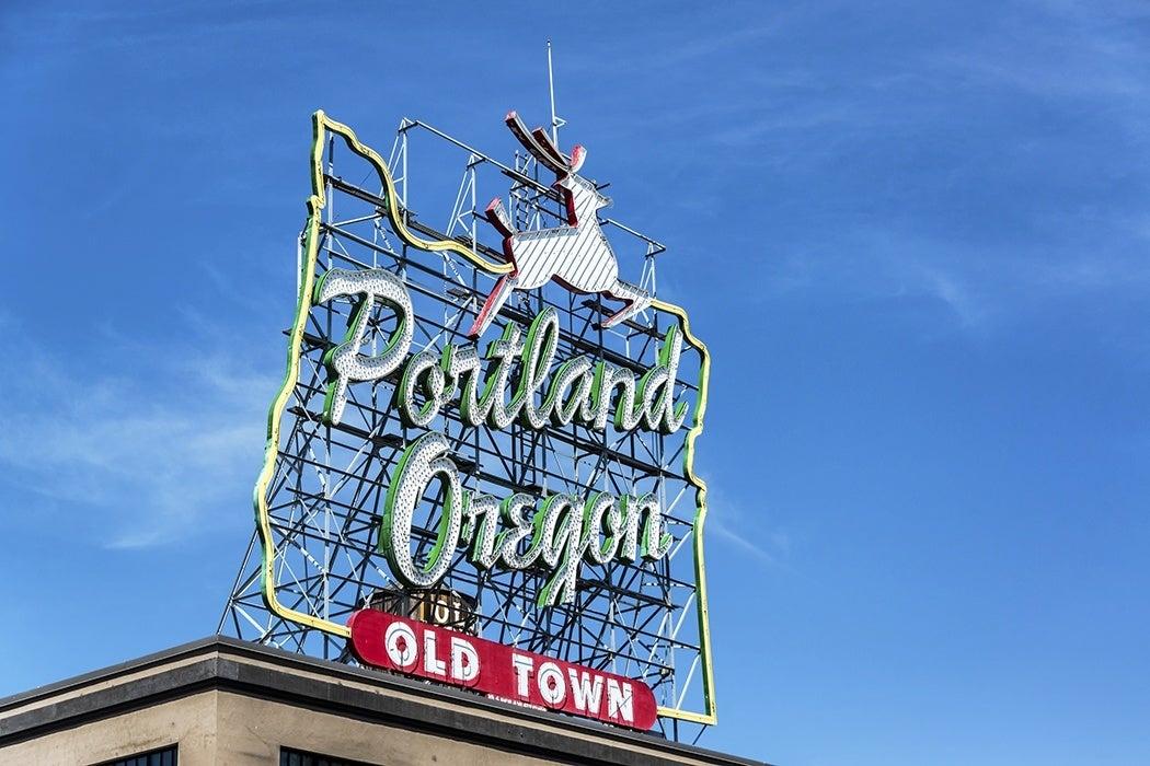 Portland, OR sign