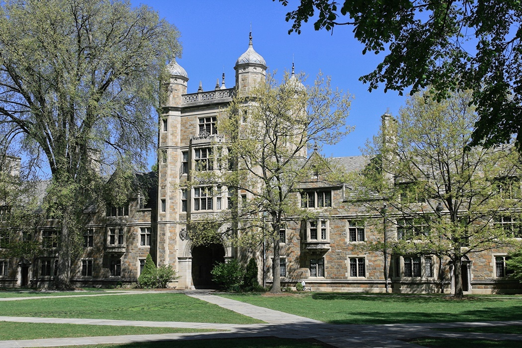 Photograph of a building on the University of Michigan's law school campus