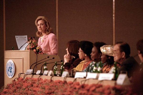 Hillary Clinton in Beijing