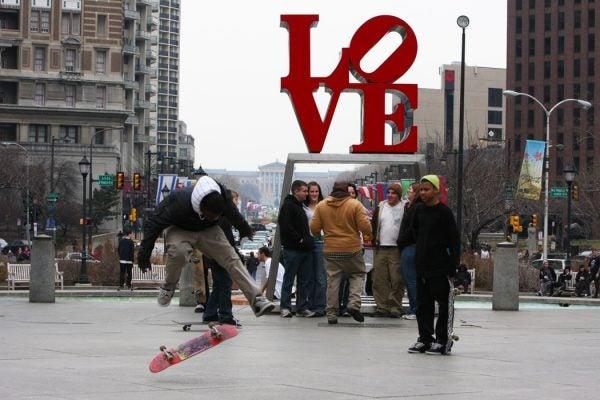 Love Park skaters