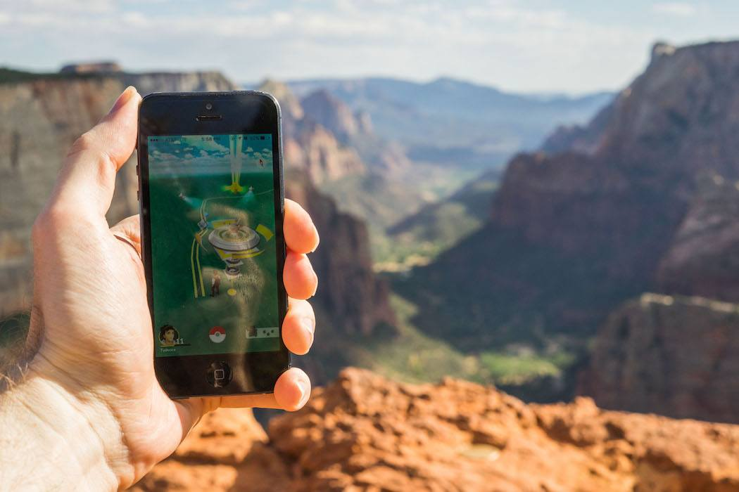 Pokemon Gym at the peak of Zion Observation Point