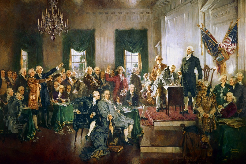 the changes in national government in america in 1787