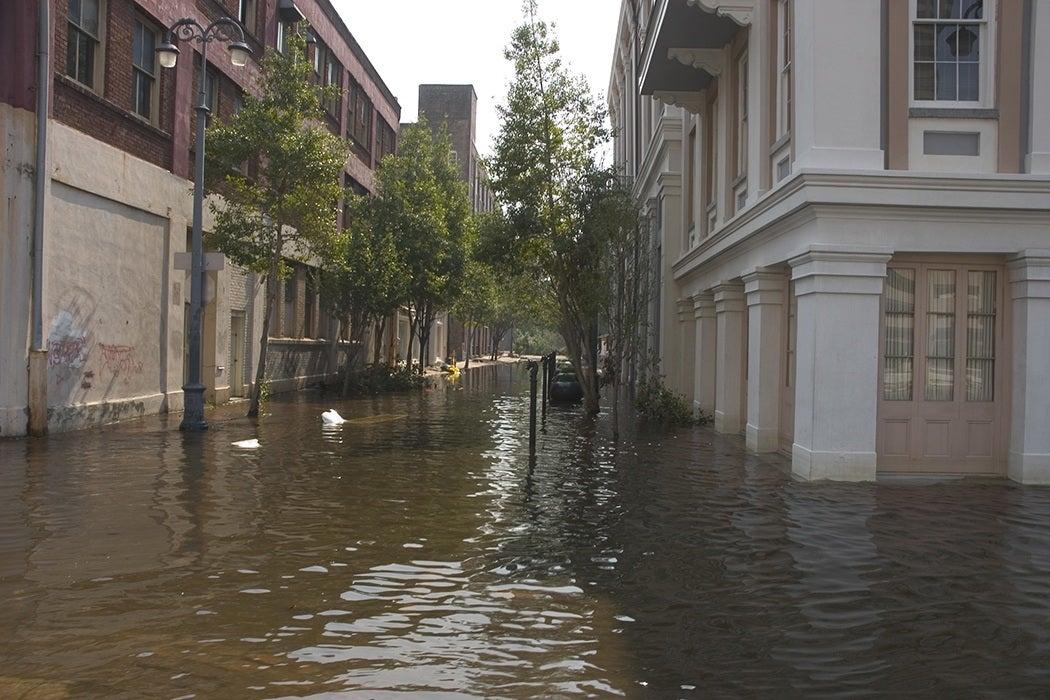 Katrina flooded New Orleans