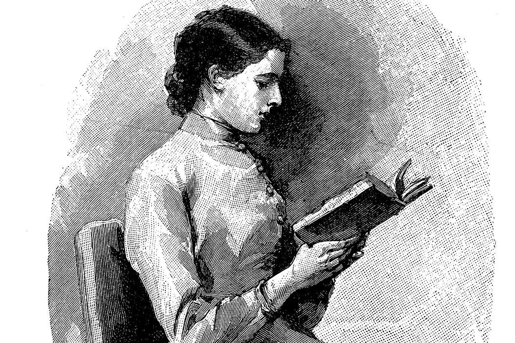 Victorian woman reading