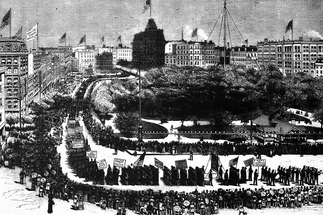 First United States Labor Day Parade 1882, Union Square