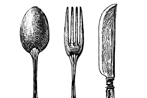 Cutlery: Spoon, Fork, Knife