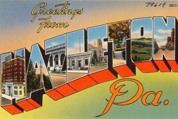 Hazelton PA postcard