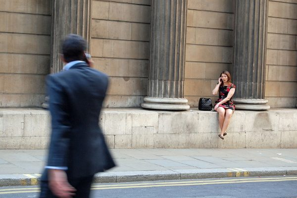 Woman at Bank of England
