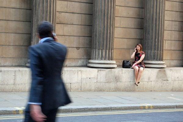 Woman at Bank of England