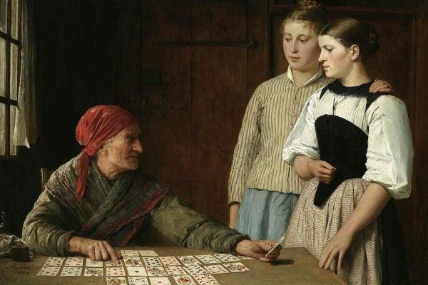 Albert Anker, Fortune Teller