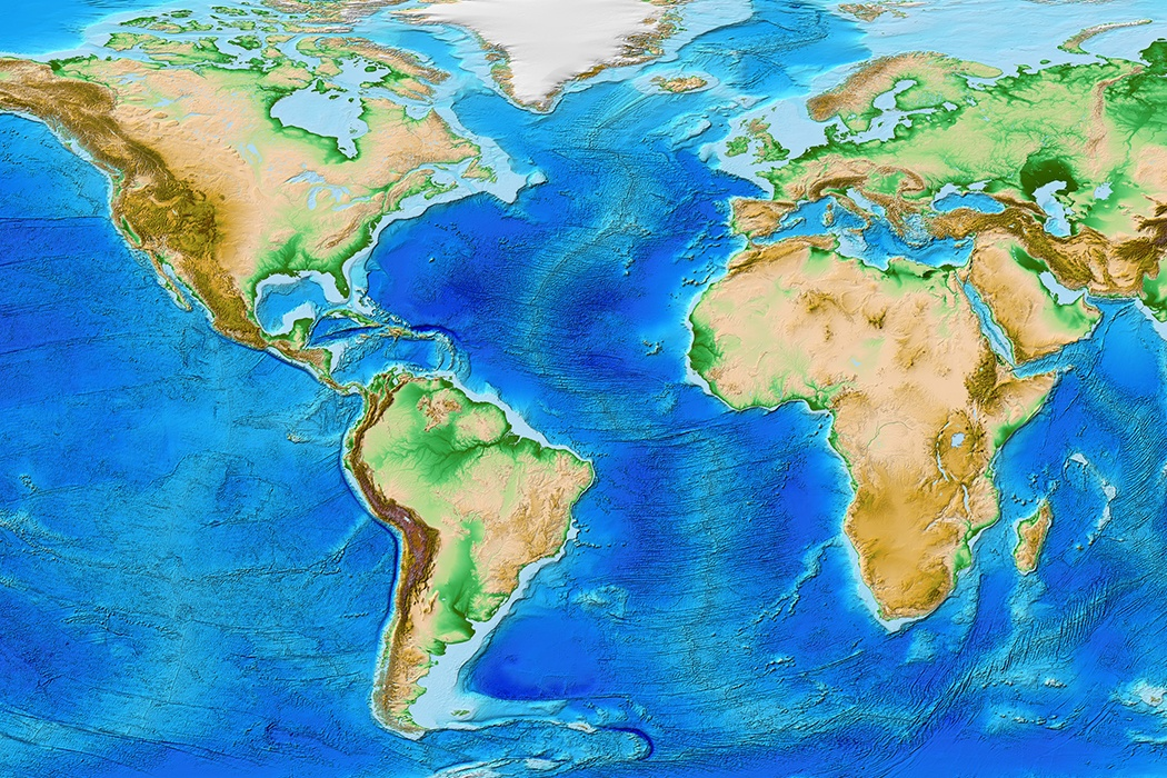 Ocean Floor Elevation Map : The mother of ocean floor cartography jstor daily
