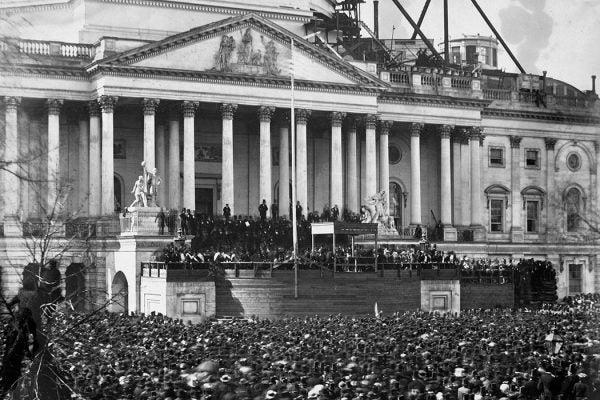 Abraham Lincoln inauguration, 1861