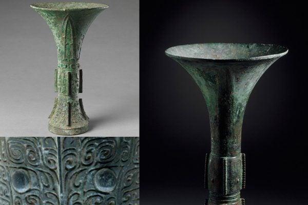 Chinese gu wine vessels