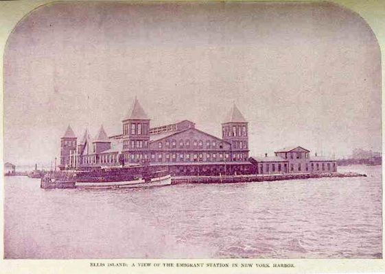 First Ellis Island wooden structure