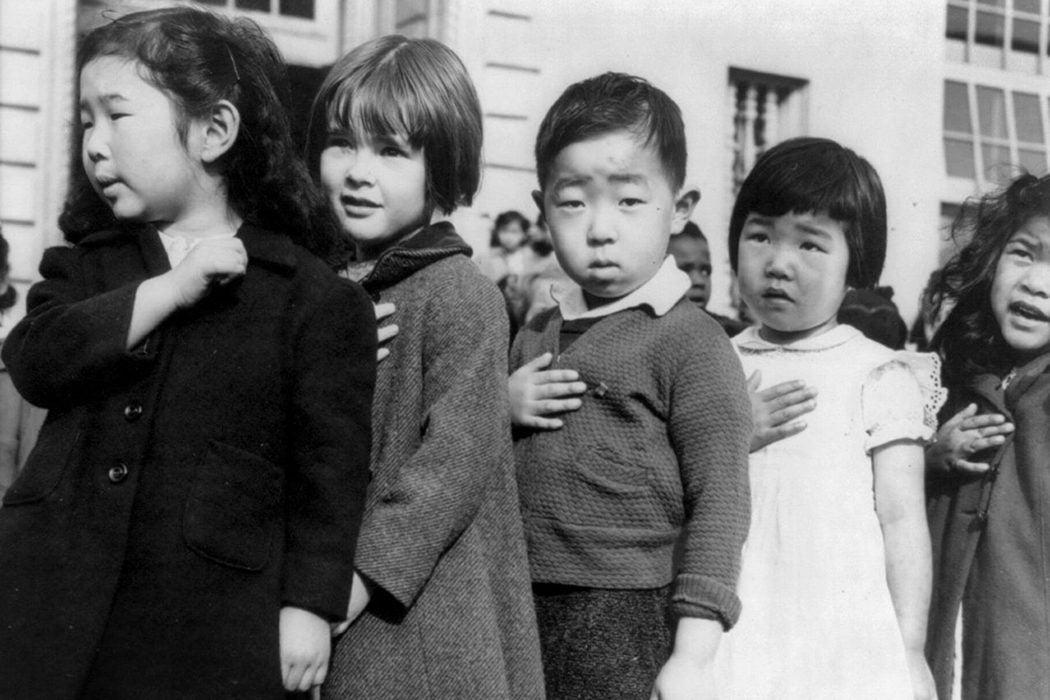 Japanese American school children