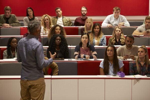 Professor in front of class