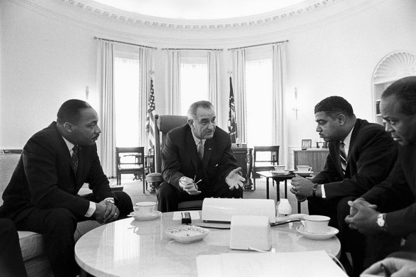 LBJ and Civil Rights Leaders