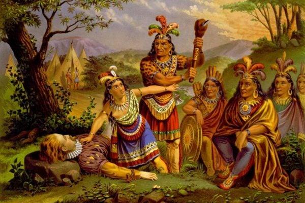 Pocahontas and John Smith