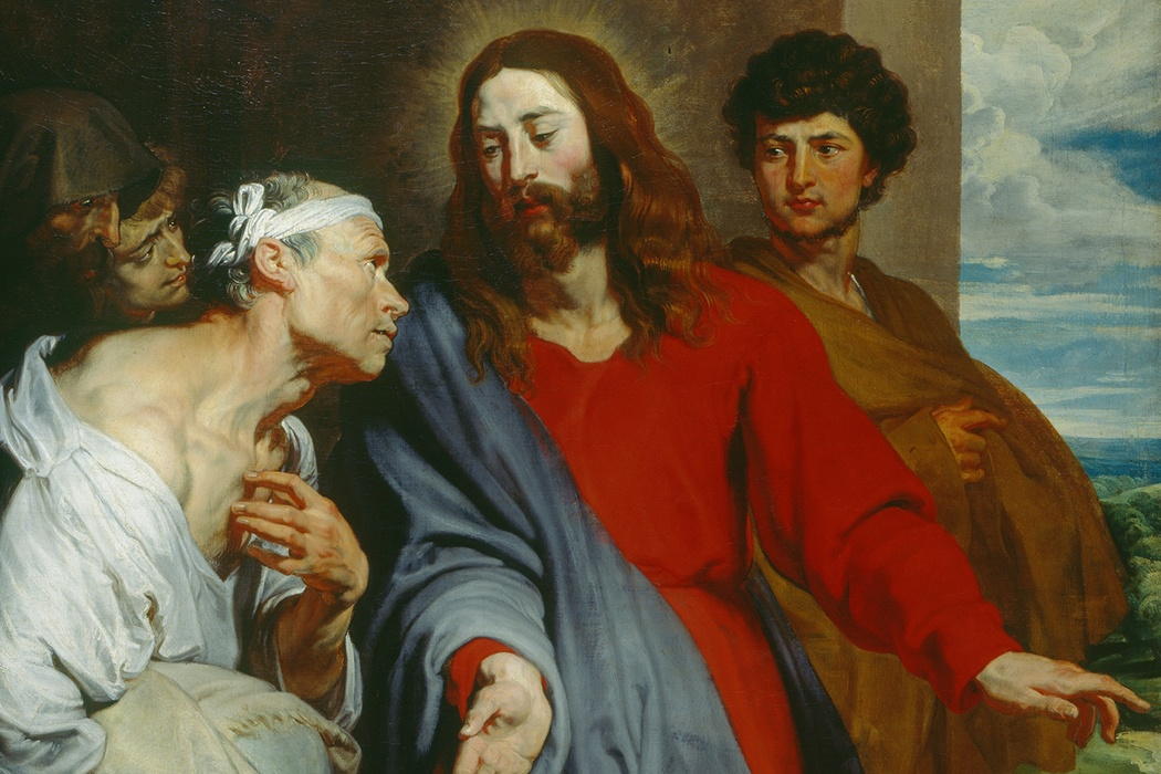 Christ healing the paralytic, by Anthony van Dyck (c. 1619)