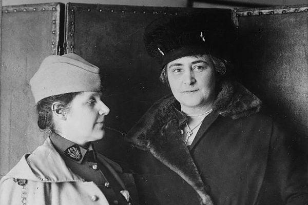Rosalie Slaughter Morton and Anne Morgan, an American philanthropist, in 1918