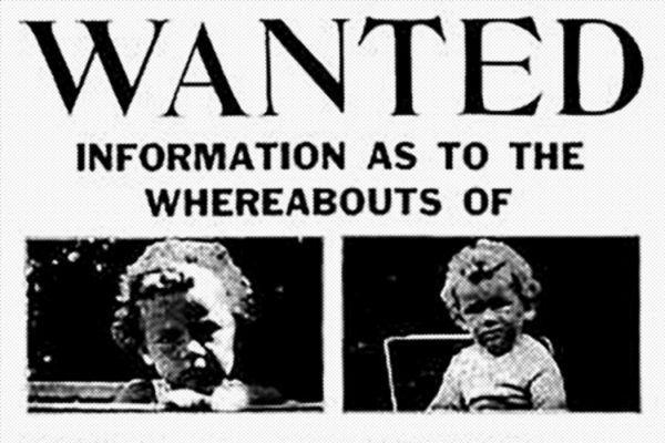 Missing poster for Charles Lindbergh, Jr.