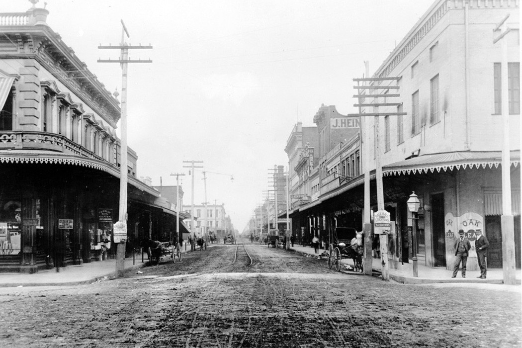 Stockton, California in 1886
