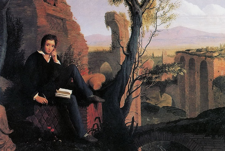 Joseph Severn portrait of Percy Shelley